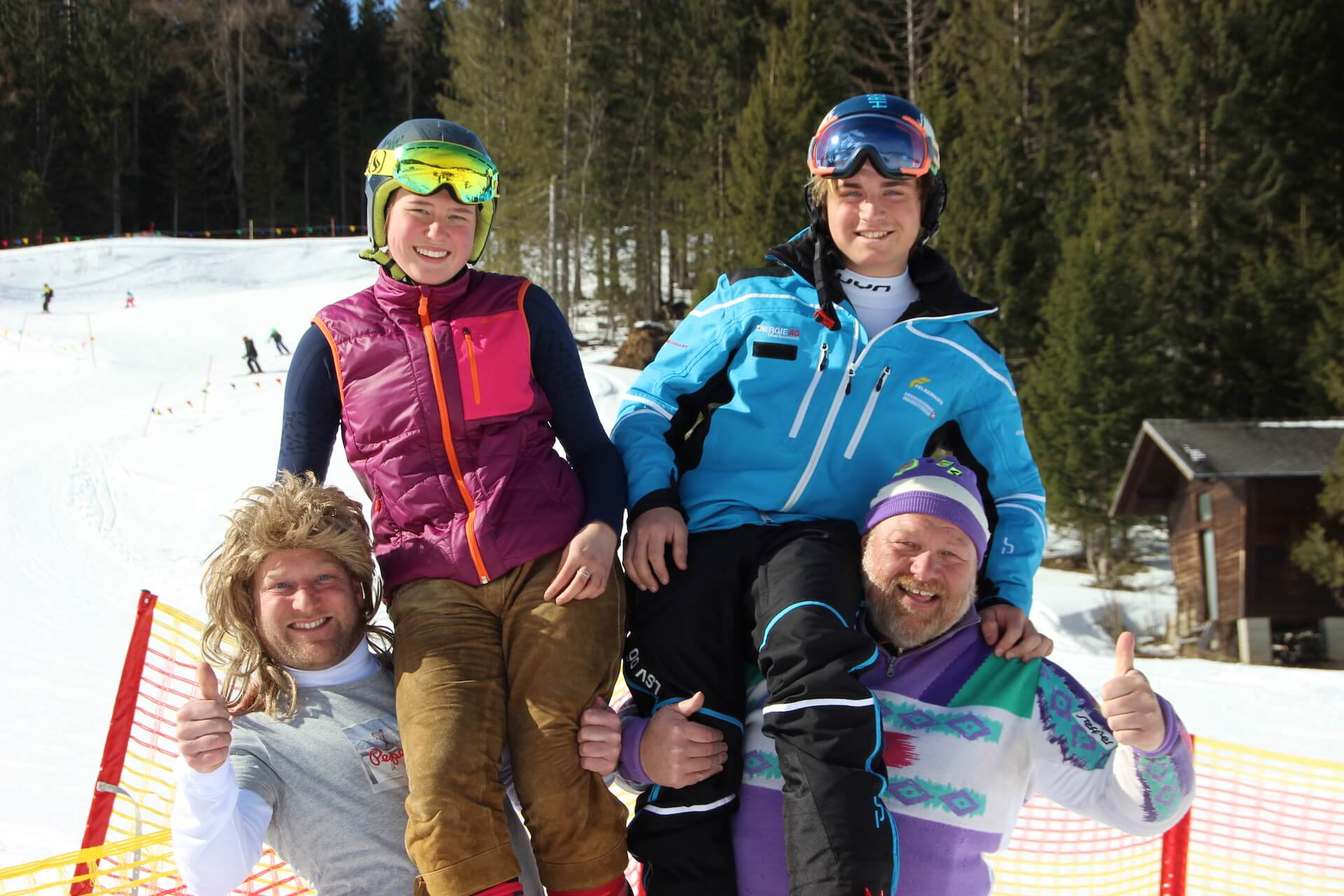 Zeller Schneegestöber Gemeindeskitag 2021 am Kasberg